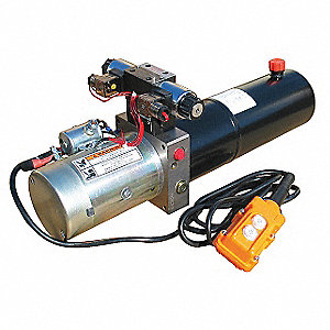 2 HP 12VDC Hydraulic Power Unit, 2500 psi 1.3 gpm