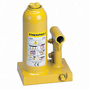 "3-3/4 x 4-27/32"" Standard Steel Bottle Jack with 5 tons Lifting Capacity"