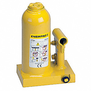 "3-3/4 x 5-19/32"" Standard Steel Bottle Jack with 10 tons Lifting Capacity"
