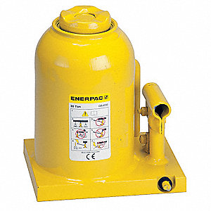 "5-9/16 x 7-3/4"" Standard Steel Bottle Jack with 30 tons Lifting Capacity"