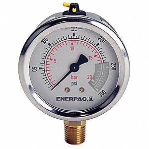 "2-1/2"" General Purpose Pressure Gauge, 0 to 300 psi"