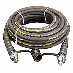 Hydraulic Hose,Rubber,1/4,50 Ft