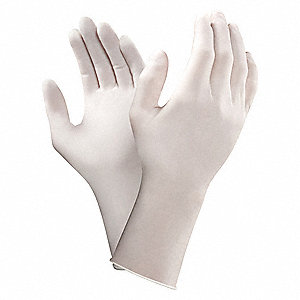 "12"" Powder Free Unlined Smooth Polyisoprene Sterile Cleanroom Gloves, White, Size  7-1/2, 200PK"