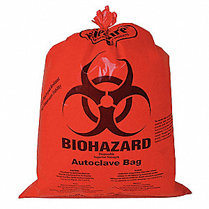 Red Biohazard Bags Super Heavy Strength Rating Box