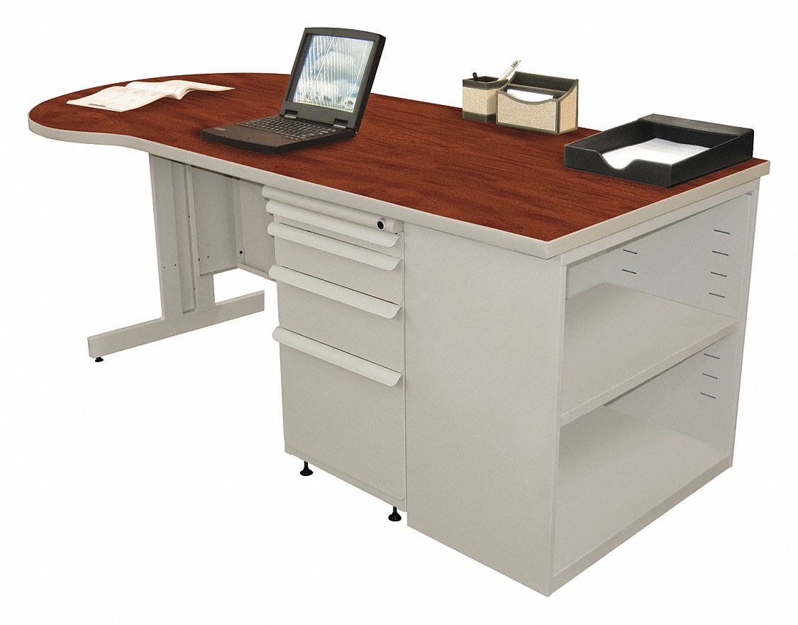 Office Desk, 30in.Dx29in.H, Gray Base