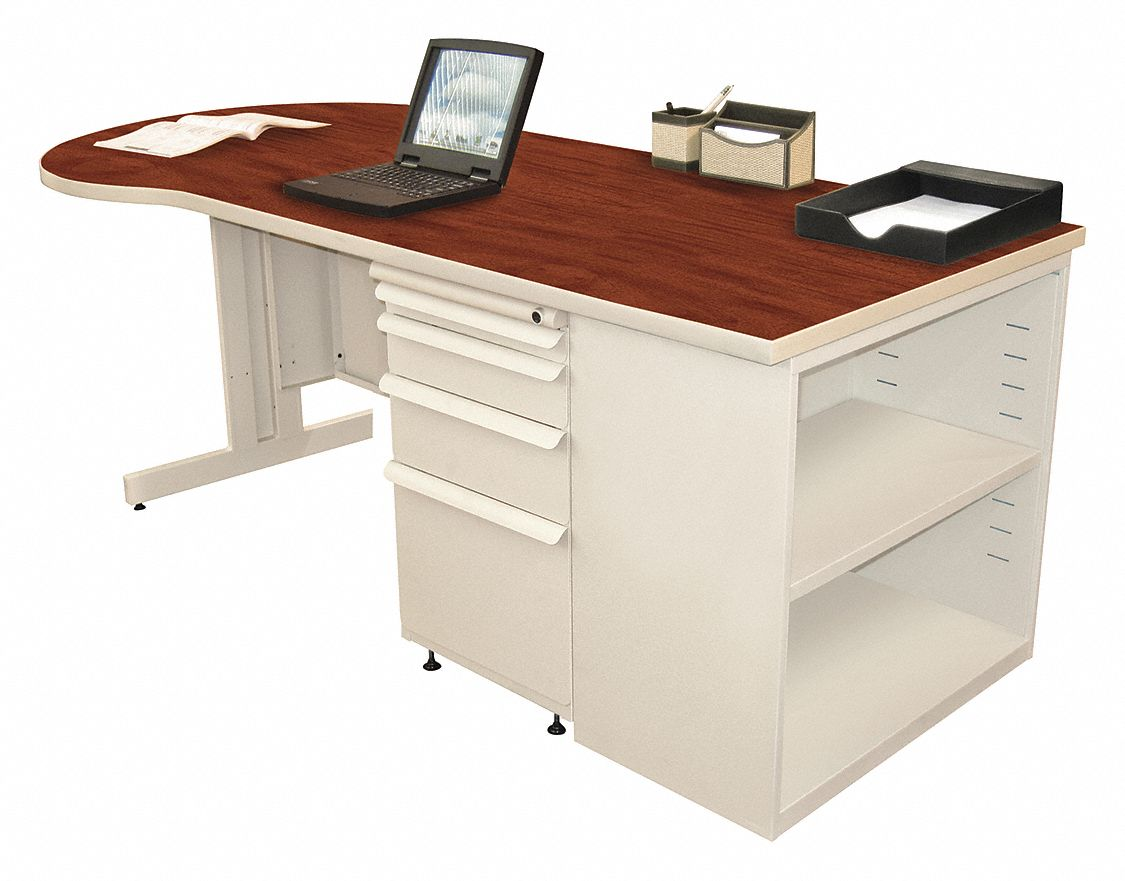 Office Desk, 75inWx30inDx29inH, Putty Base