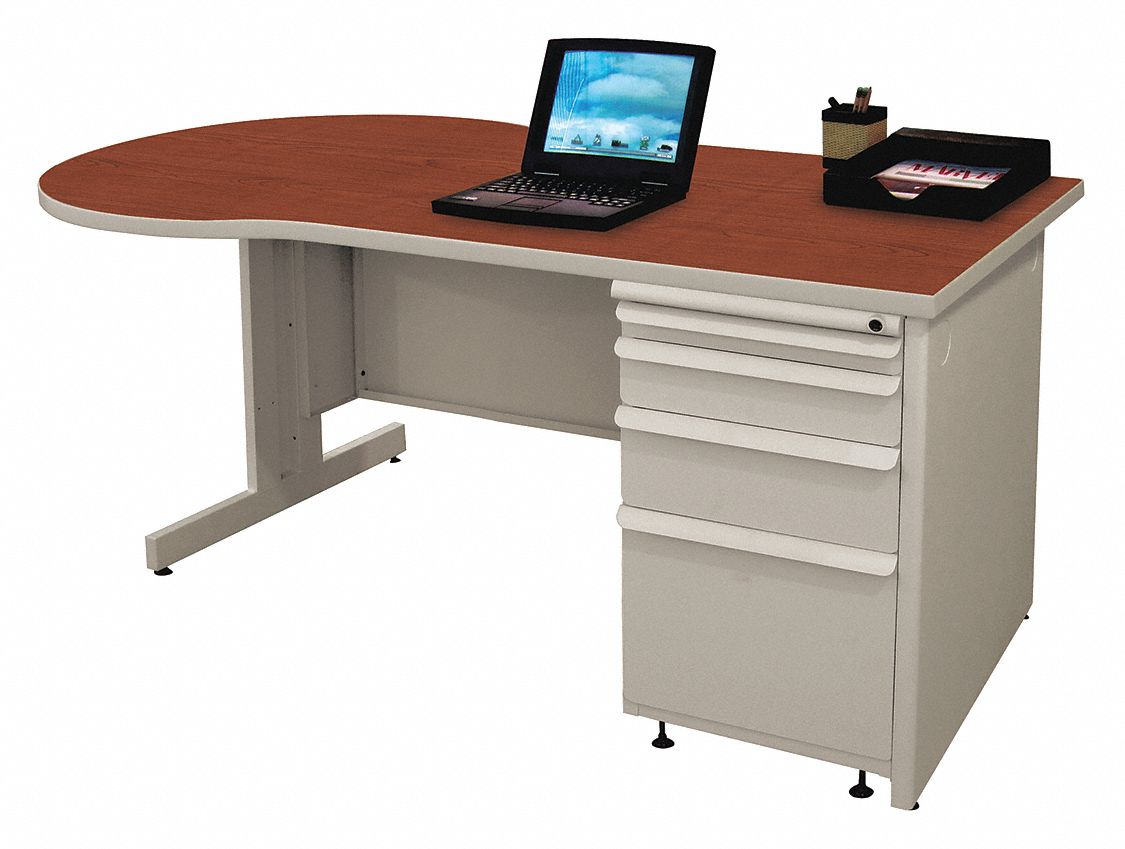 Office Desk, 60in.Wx30in.D, Gray Base