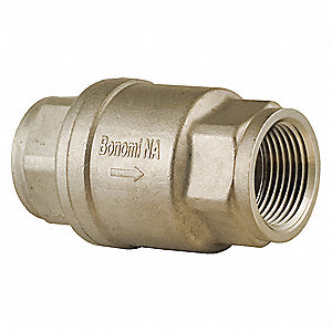 "1/4"" Check Valve, Archetype: Single, Inline Spring, FNPT x FNPT"