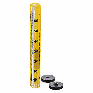 13.10 to 202.10 mL/min.  65mm Scale, Size 3, Unmounted Flowmeter