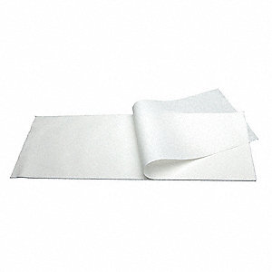 "Durx® 670 55% Cellulose/45% Polyester Cleanroom Wipes, 100 Ct. 8"" x 24"" Sheets, White"