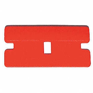 "Stiff Scraper Blade with 1-1/2"" Plastic Blade, Brown"