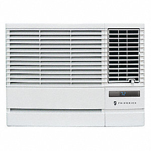 208/230V Electric Window Air Conditioner w/Heat, 11,500/12,000 BtuH Cooling, White, Includes: LCD Re