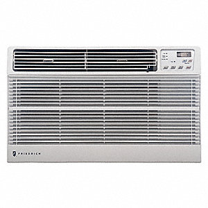 Electric 115V Wall Air Conditioner w/Heat, 8000 BtuH Cooling, White, Includes: Remote Control,  Univ