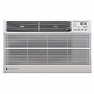 208/230V Electric Wall Air Conditioner w/Heat, 11,200/11,500 BtuH Cooling, White, Includes: Remote C