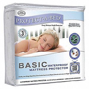Mattress Pad,Full XL,Poly,PK12
