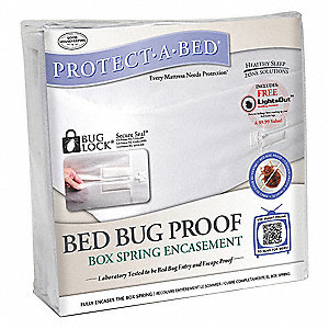 "Hotel King Non Woven Box Spring Encasement with 9"" Pocket Size, White"