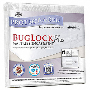 "Full Jersey Knit Mattress Encasement with 8"" Pocket Size, White"