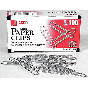 PAPER CLIPS PLAIN 1 7/8IN 100/PK