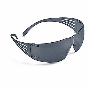 SecureFit™ Anti-Fog Safety Glasses, Gray Lens Color