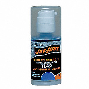 TL42 Series Medium-Strength Threadlocker, Blue Gel, 35mL Gel Pump