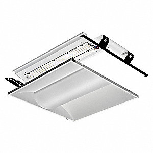 4000K LED Troffer Fixture Retrofit Kit, 35 Watts, 120 to 277 Voltage