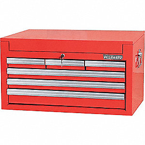 TOOL CHEST 26IN 6 DRWR RED
