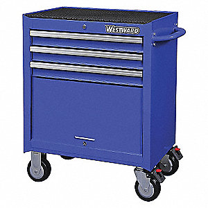 TOOL CAB ROLLING 26IN 3 DRWR BLUE