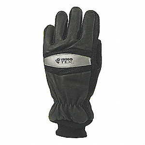 Gloves, Firefighting, M, Black Nomex, PR