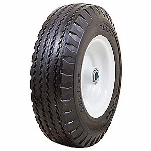 "12-13/32"" Light-Medium Duty Sawtooth Tread Flat-Free Wheel, 400 lb. Load Rating"