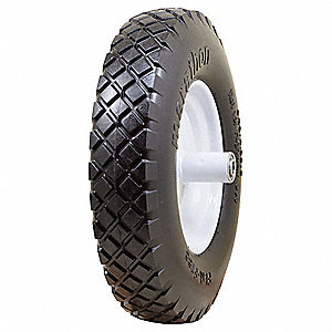 "15-37/64"" Light-Medium Duty Knobby Tread Flat-Free Wheel, 500 lb. Load Rating"