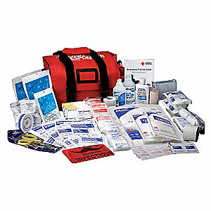 First Aid Kit,Bulk,Red,158 Pcs,1 People