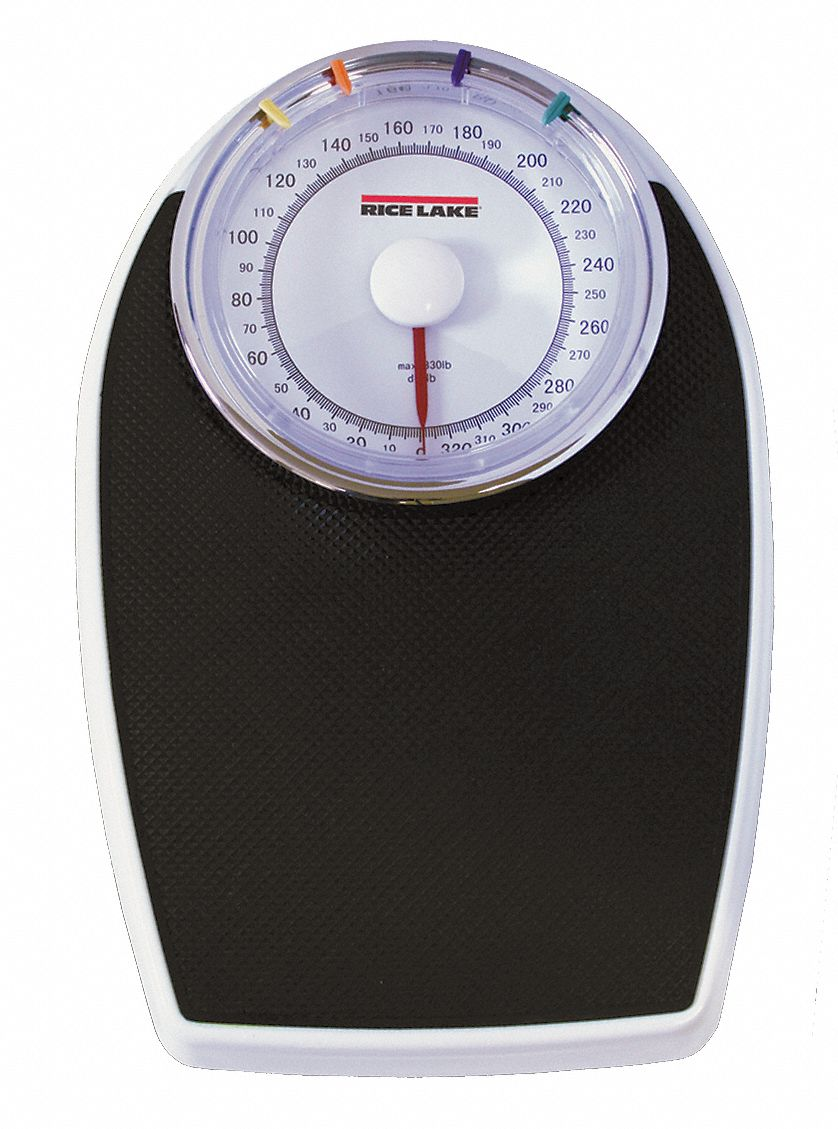 Mechanical Bath Scale, 330 lb Capacity, 8 in W x 11 in D