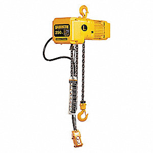 H4 Electric Chain Hoist, 250 lb. Load Capacity, 115/230V, 20 ft. Hoist Lift, 14 fpm