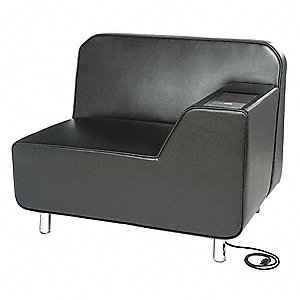 Lounge Chair,29-1/2 in. D,Black