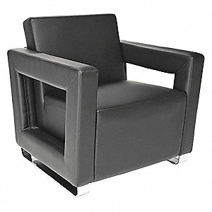 Lounge Chair,30 in. D,Black