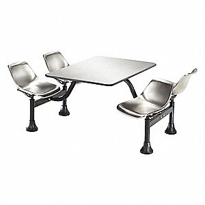 Outdoor Table,64-1/4 in. D,Silver