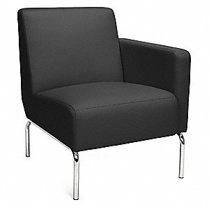 Lounge Chair,25 in. W,Black
