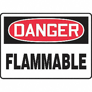 SAFETY SIGN FLAMMABLE PLASTIC