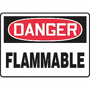 SAFETY SIGN FLAMMABLE VINYL