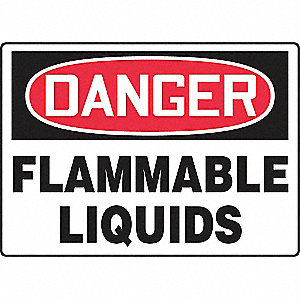SAFETY SIGN FLAMMABLE LIQUIDS VIN