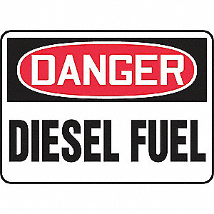 SAFETY SIGN DIESEL FUEL VINYL