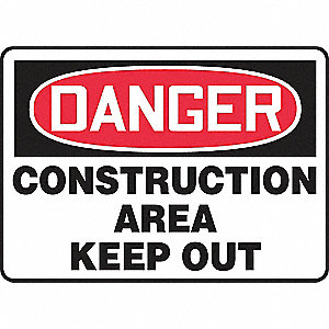 SAFETY SIGN CONSTRUCTION AREA PLA