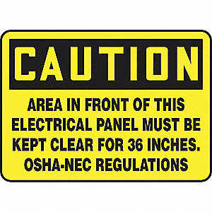 SAFETY SIGN ELECTRICAL PANELVINYL