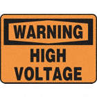 SAFETY SIGN HIGH VOLTAGE PLASTIC