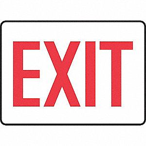 SAFETY SIGN EXIT ALUMINUM