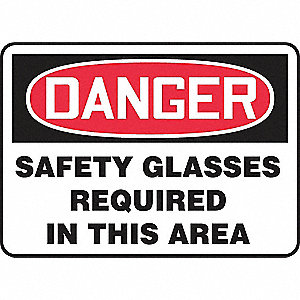 SAFETY SIGN SAFETY GLASSES REQVIN