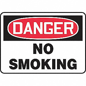SAFETY SIGN NO SMOKING PLASTIC