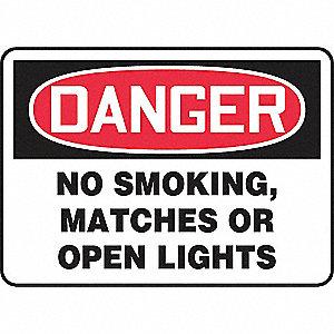 SAFETY SIGN NO SMOKING MATCH PLAS