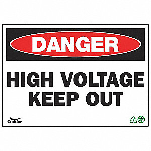 SIGN DANGER HIGH VOLT 7X10 SA
