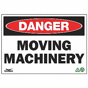 SIGN DANGER MACHINERY 7X10 SA